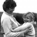 Riemke Ensing with son (Age 2) James, at  Ihumatao in 1974